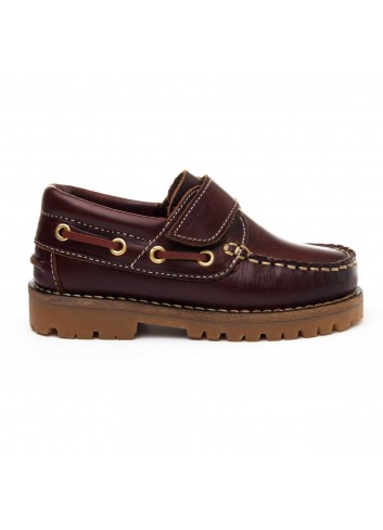 CLAUDIOminiV 64082 ZAPATO DE NINO COLOR MARRON CON VELCRO